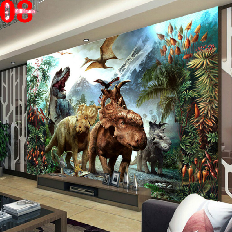 Mural wallpaper tv background eco friendly the wall paper for Childrens mural wallpaper