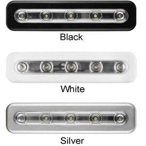 Image 2 - Bộ 5 Bóng LED Tủ Đèn Có Keo Dán Miếng Dán Đèn Cho Nhà Bếp Phòng Ngủ Tủ Ngăn Kéo Tủ Quần Áo Tủ Quần Áo Cảm Biến Chuyển Động Đèn LED