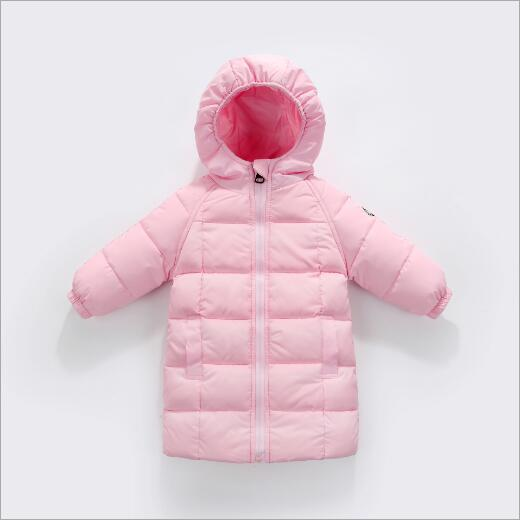 2017 Newest loose toddler baby kids down jacket girls long coat boys winter warm outdoor outcoat children clothes with cap a15 children duck down coat long winter warm jacket girl clothes winter coat toddler fur outdoor clothing kids teen 6 8 10 12 14