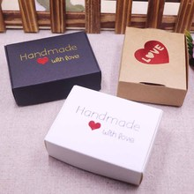 New DIY  multi styles gift/candy/packing box handmade with love cardboard gift package & Wedding Favourate BOX Red Heart
