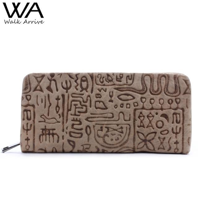 Ходить поступление Пояса из натуральной кожи Для женщин кошелек с тиснением кожаный кошелек Марка Дизайн клатч бумажник денежного мешка Мода держатель для монет