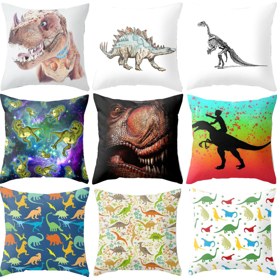 Animal Coloeful Fiercely Dinosaurs Cushion Covers Home