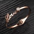 O envio gratuito de moda de jóias por atacado novo estilo feminino zircon pulseira de aço inoxidável para a senhora/mulheres presente LGH699