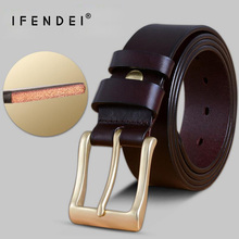 IFENDEI Luxury 100% Genuine Leather Belts Waist Men 's Belt