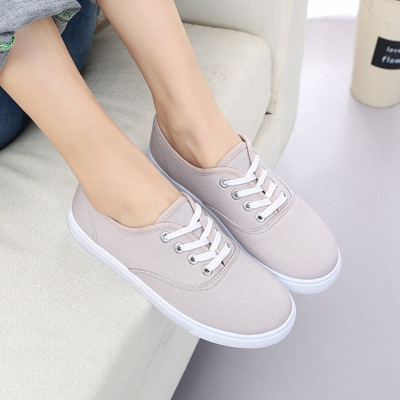 Canvas Vulcanized Shoes 2018 Spring/Autumn Students Flats Casual Sneakers Shoes Women Vulcanize Sewing Zapatos De Mujer