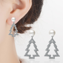 Everoyal Trendy 925 Sterling Silver Earrings For Girls Accessories Fashion Pearl Jewelry Female Christmas Gift