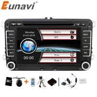 Eunavi 2 гама 7 дюймов машинный DVD автомобильный радиоприемник проигрыватель gps для Volkswagen Golf, Volkswagen Polo Jetta Touran MK5 MK6 PASSAT B6 со стерео, bluetooth, swc, FM/AM