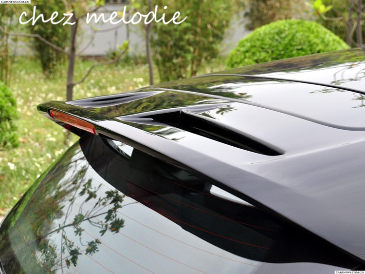 Different colors painted ABS Car rear Roof Spoiler Wing For Ford Fiesta 2009-2015 Hatchback, no drilling needed unpainted rear roof lip spoiler wing for bmw e87 e81 2004 2011