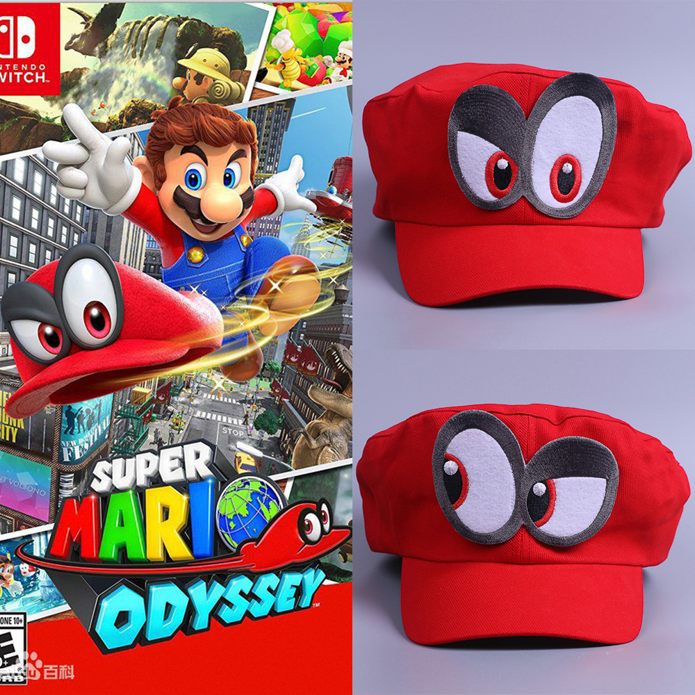 Game Super Mario Odyssey Hat Adult Kids Anime Cosplay Cap Handmade Super Mario Odyssey
