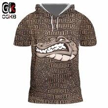 OGKB Hot Loose Men's Hooded Tshirt Animal Tee Shirt 3D Print
