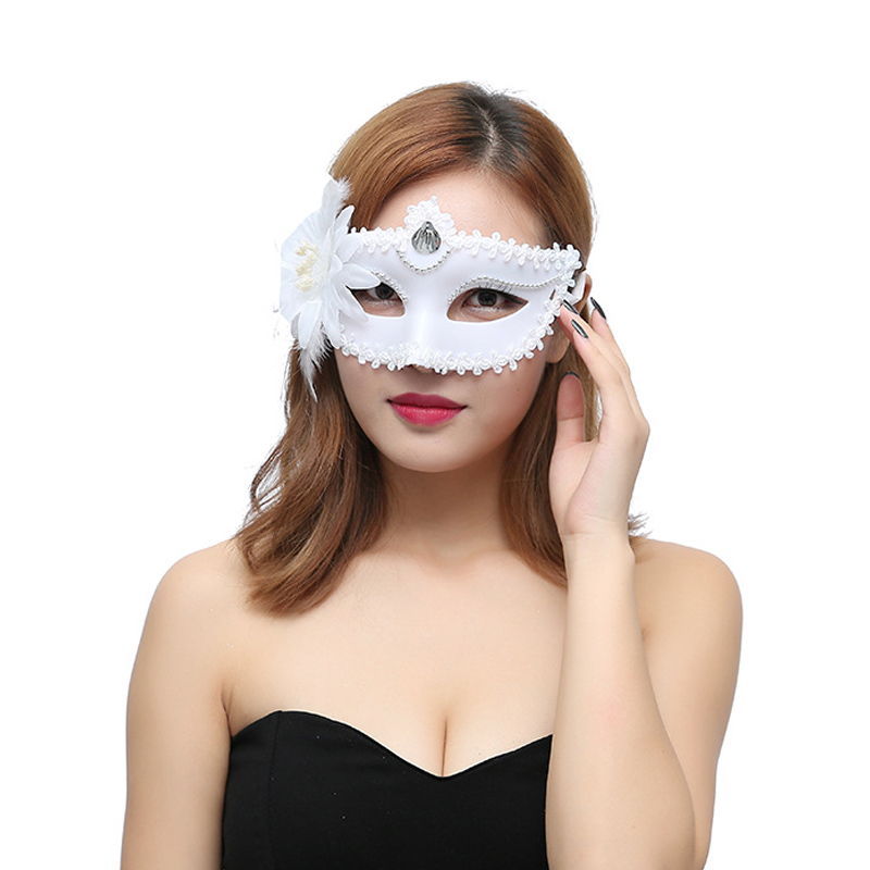 Newly Sexy Women Masquerade Plastic Flower Mask For Festival Party Prom Mardi Gras FDM