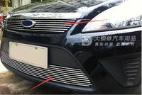 for FORD FOCUS 2009 2011 Quality Stainless steel Car front bumper Mesh Grille Around Trim Racing Grills