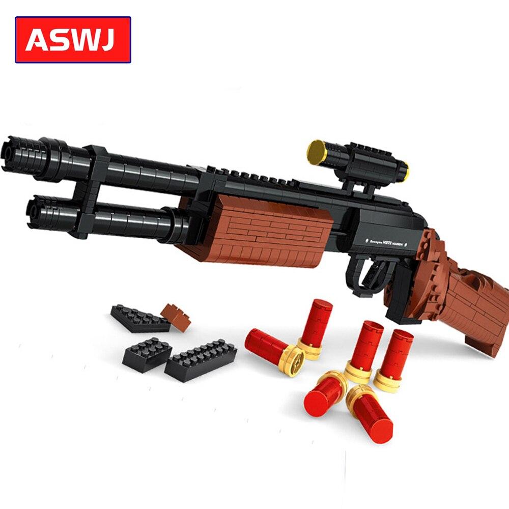 Gun Model Assembled Toy Gun M870 Shotgun Building Blocks Compatible Legoes Gun Weapon Children Military Bricks Toys Gifts