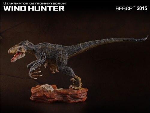 REBOR Utahraptor Ostrommaysorum WING HUNTER PVC 1 35 Dinosaur Museum Class Model
