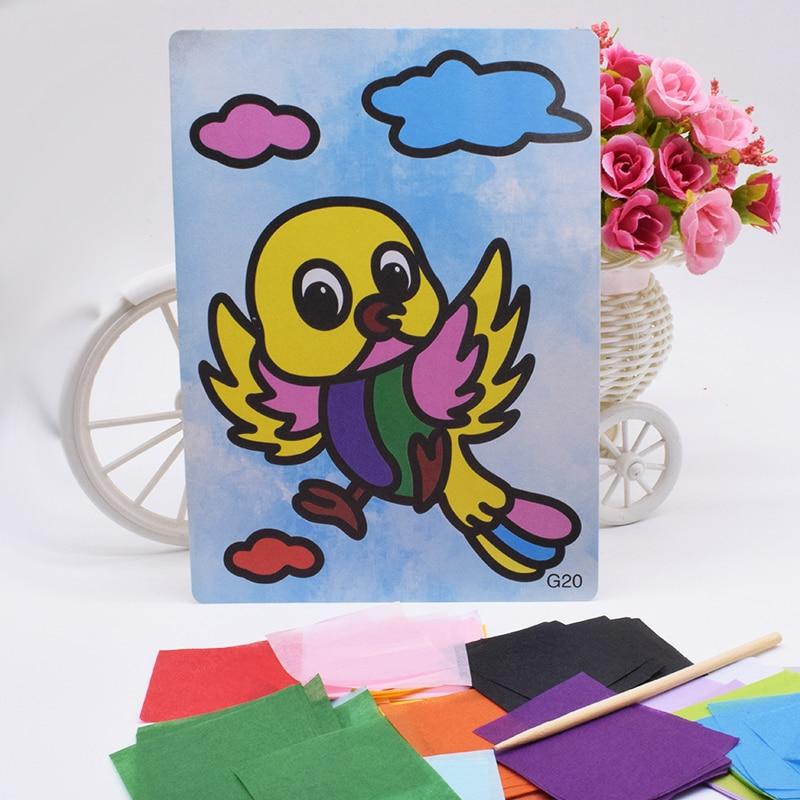 DIY Bird Crafts Toys For Children Handicraft Material Felt Paper Kindergarten Handwork Arts And Craft Handmade Toy Gift For Kids