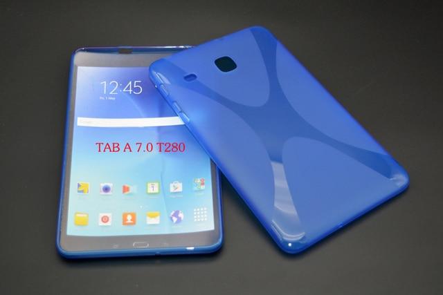 647f953a650 Funda protectora antideslizante mate X Line suave silicona goma TPU Gel para  Samsung Galaxy Tab A