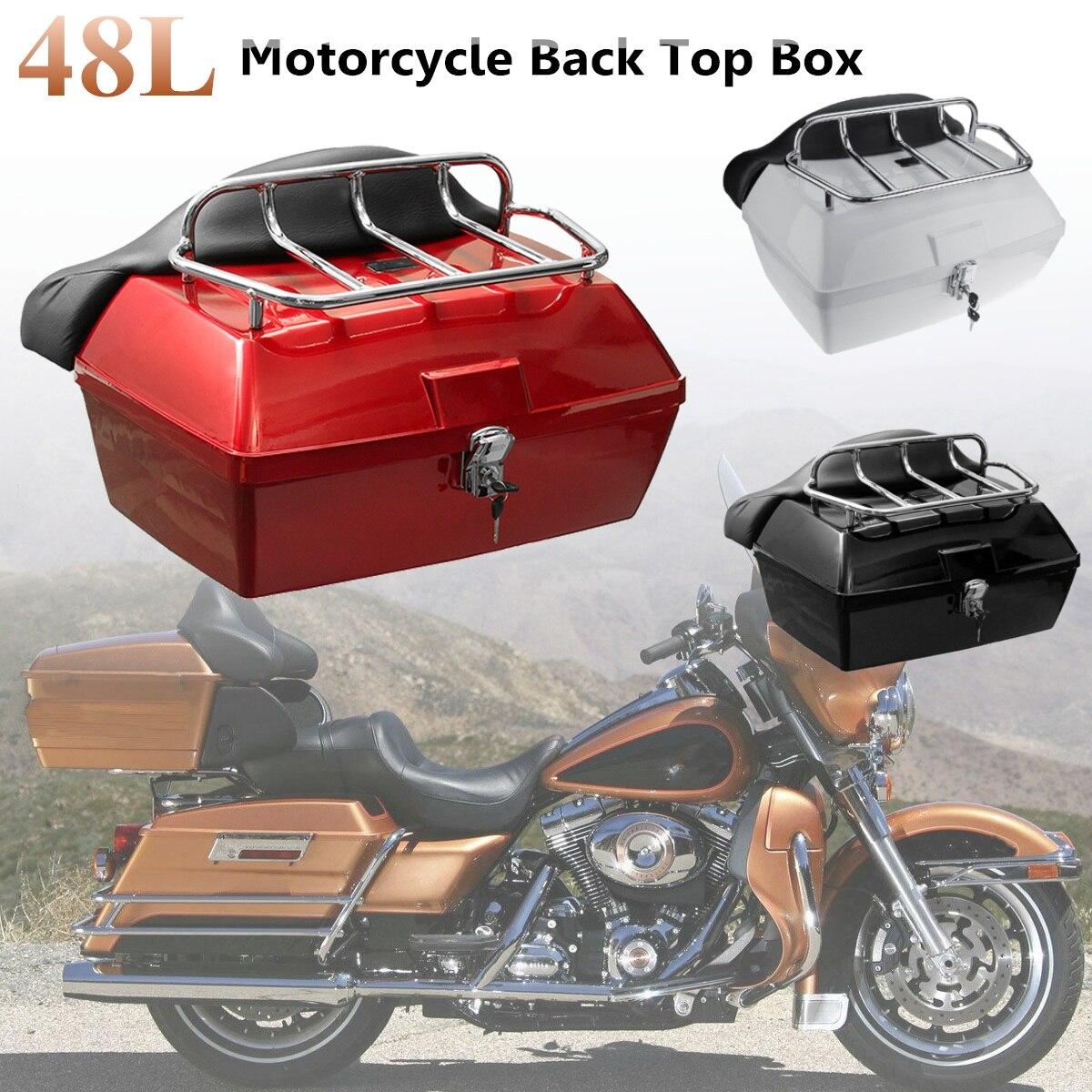 48L universel moto boîte de rangement arrière queue bagages coffre boîte à outils Scooter moto