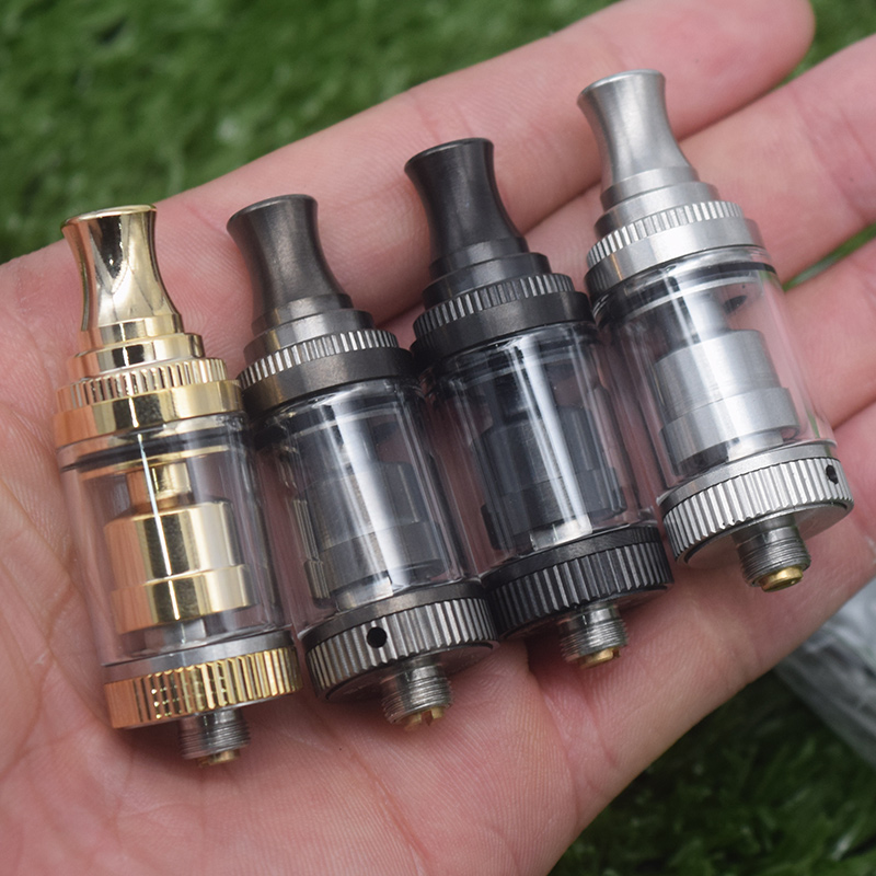 SALT RTA Atomizer Tank 2ml/3.5ml  Adjustable Airflow Bubble Glass Tube Vape Vaporizer 18mm Diameter Single Coil