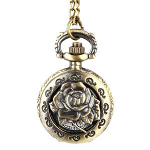 luxfacigoo Vintage Women Necklace Pendant Chain Clock Gifts