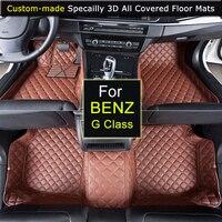 Специально для Mercedes G63 G55 G500 GL450 gla200 GLC gla200 GLE GLK350 ML350 автомобиля Коврики стайлинга автомобилей ковры 3D Водонепроницаемый