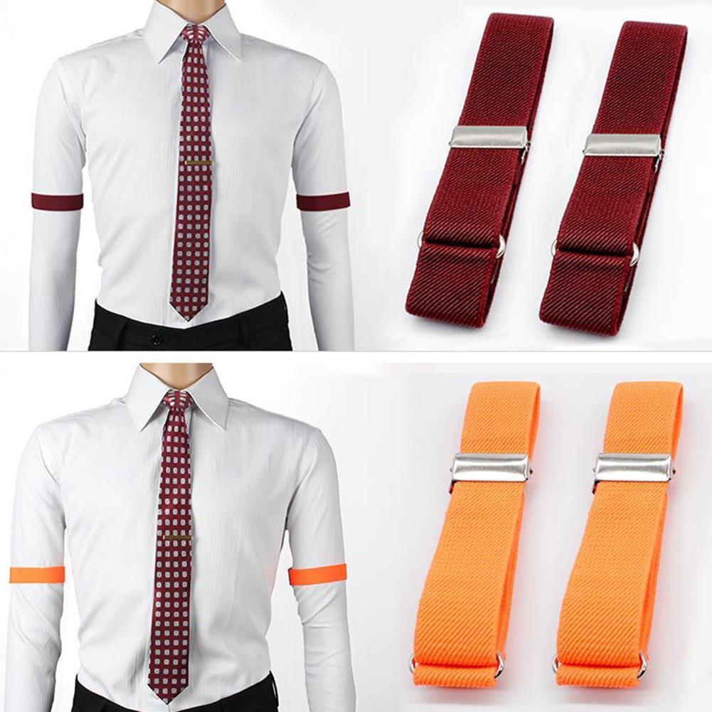 1Pair Anti-slip Shirt Sleeve Holders Elastic Garter Armbands Tightening Straps