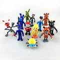 12Pcs/Set 5-11.5cm Five Nights At Freddy's figure FNAF Chica Bonnie Foxy Freddy Fazbear Bear Doll PVC Action Figures Toys AC56