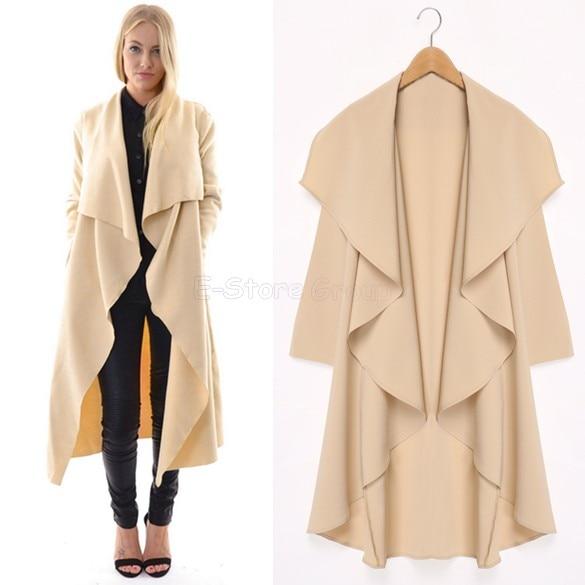 2015 Maxi Winter Coats Women Long Overcoats Trench Coat Designer ...