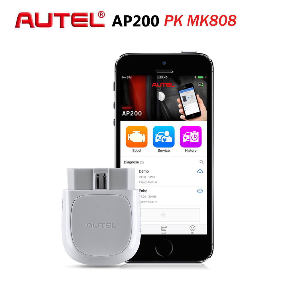 Autel AP200 Bluetooth Car Diagnostic Tool All System OBD2 Automotive Scanner Auto DIY Code Reader Scan Tools PK EasyDiag MK808(China)