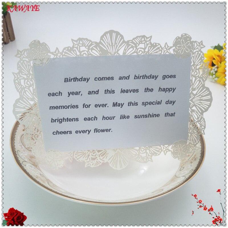 30pcs 18x12cm Laser Cut Diy Lace Wedding Party Menu Card Table Place