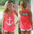 Marinero de La Vendimia Playa Verano 2016 Camiseta de Las Mujeres Ropa Hombro chaleco Tops Tees Harajuku Blusa Emoji Camisetas Mujer Camiseta cc