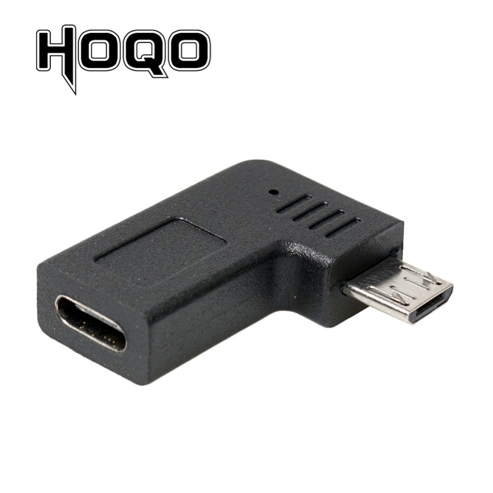 Right Angle Micro USB Male To Type C Female Adapter 90 Degree Microusb USBC Conventer Data Sync Charge Converter For Samsung S10