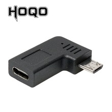 Right Angle Micro USB Male to Type C Female Adapter 90 Degree Microusb USBC Conventer Data Sync Charge Converter For Samsung s10 right angle usb3 0 a type male to micro b converter short cord with data transfer charging function for phone