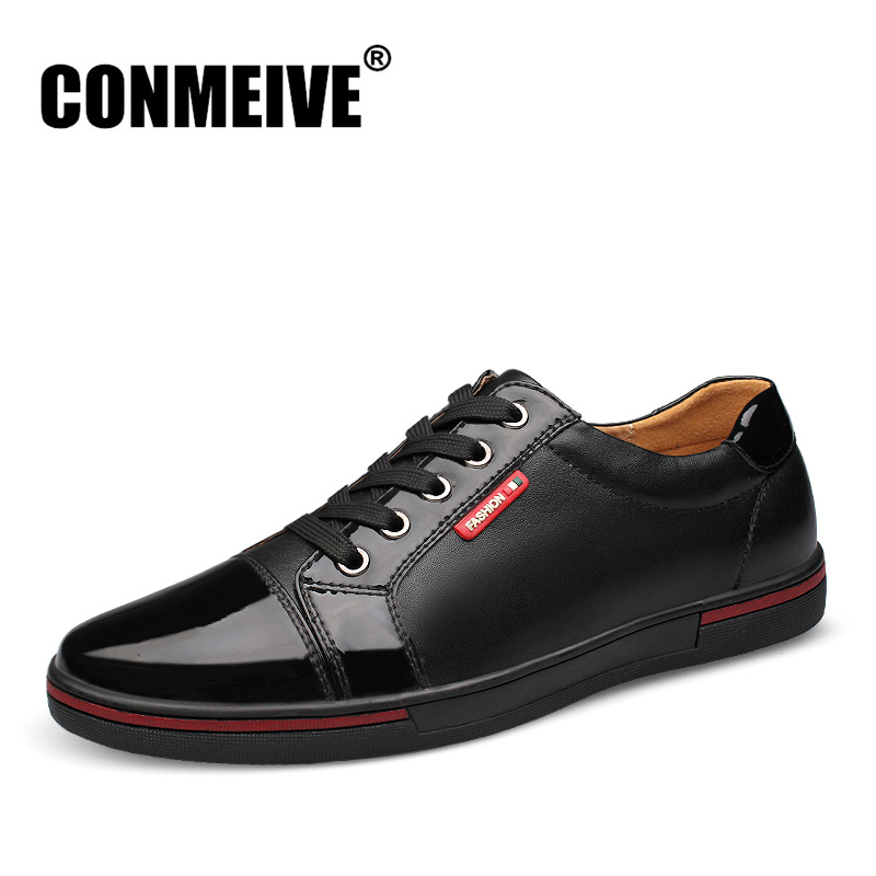 Luxury Brand Genuine Leather Mens Shoes Light Soft Solid Color Men Casual Shoes Spring Autumn Lace