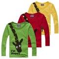 Camiseta del muchacho Camisetas de Manga Larga de Tocar Fondo Camisetas Para Chicos las Tapas de Los Niños Camisetas de Los Niños Bebé Ropa de la Muchacha T camisa
