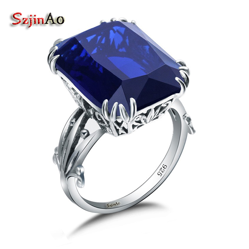 Szjinao Sweet Tibetan Wedding Rings For Women Sapphrie Jewelry Boho Style Vintage 925 Silver Jewelry Wholesale Hot SaleSzjinao Sweet Tibetan Wedding Rings For Women Sapphrie Jewelry Boho Style Vintage 925 Silver Jewelry Wholesale Hot Sale
