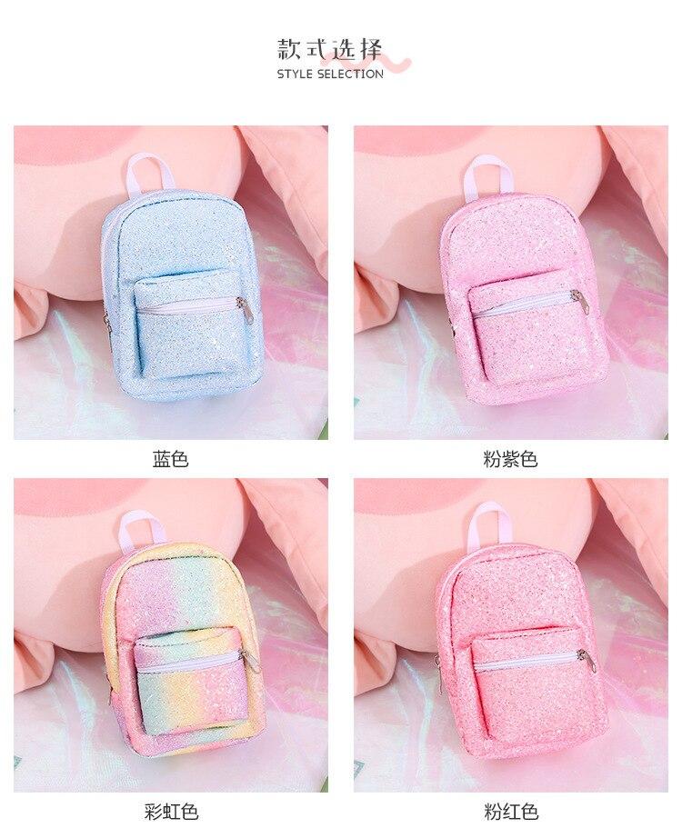 XZP мини кошелек на запястье для монет, рюкзак для женщин, блестящий маленький рюкзак с блестками, кошелек, дизайнерский рюкзак для девочек, милый Рюкзак Kawaii