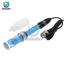 лучшая цена 0.00~14.00 PH Liquid Electrode Probe BNC Plug Connector for Aquarium PH Controller Meter Sensor Gib digital PH Sensor Electrode
