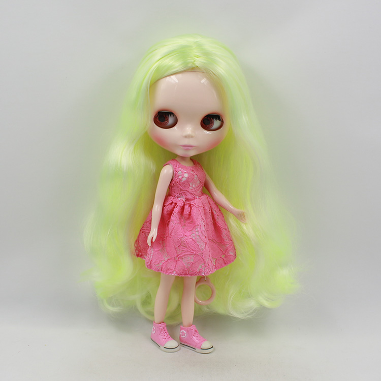 все цены на Blyth doll nude yellow-green long hair bjd doll 12 inch fashion dolls mini dolls for girls