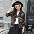 New Baby Girl's Coats Spring Autumn Korean Children's Casual Camouflage Clothing Kids Turn-Down Collar Long Sleeve Outerwear Hot