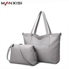 Manxisi marca de lujo bolso de las mujeres bolsos de cuero bolsas de asas casual gris bolsas de hombro sólido suave cremallera bolsa compuesta conjunto
