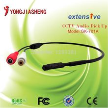Free Shipping 10pcs/lot Mini Audio Monitor CCTV Microphone for Security CCTV Cameras