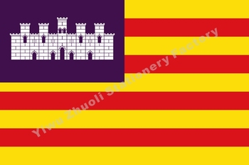Balearic Islands Flag 150X90cm (3x5FT) 120g 100D Polyester Double Stitched High Quality Free Shipping Spain image