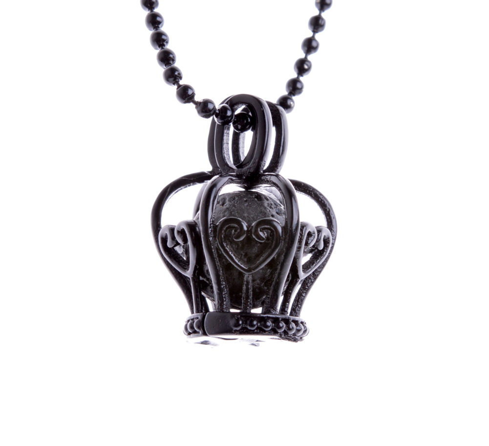 Black Paint Mermaid Essential Oil Diffuser Locket Pendant Necklace with Lava with 70cm Ball Chain XSH-467 locket
