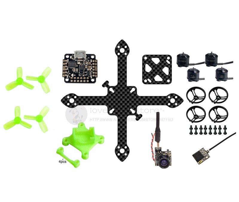 DIY 90mm FPV brushless indoor mini drone quadcopter frame BNF kit unassembled 16mm x 16mm flight control mount 90mm frame kit