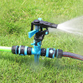 Auto Oscillating Garden Watering Sprinkler Adjustable Watering Cone for Lawn Yard Impulse Spike Water Sprayer Covering 8-10M