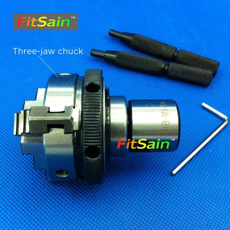 FitSain-Three jaw chuck 50mm/63mm CNC mini SELF-CENTERING maiually operated chuck Bench Lathe Used for motor shaft 8/10/12/14/16 недорого