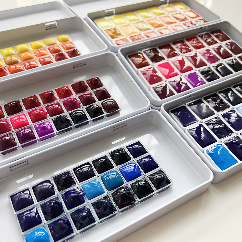Mijielo 21 Colors 0.5ml/1ml Dispensing Yellow Orange Red Blue Purple Green Earth Brown Black And White Gray Macaron