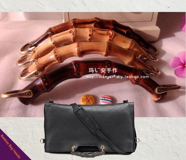 2016 Bamboo Bag Hanger Handle  DIY Handbag Accessories Wooden Bamboo Purse Frame Handle Elegance Bamboo Purse Handle