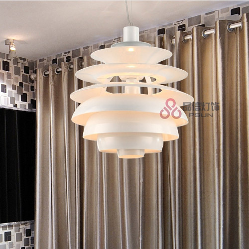 16 Modern Polishe White Aluminum Pendant Light Free Shipping Italy 7-tiers Dining Room contracted Bar Counter Pendant Light