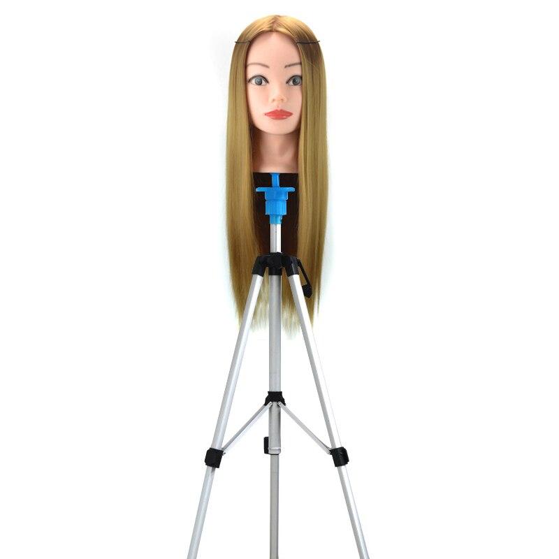 Mannequin Head Holder Tripod Stand Adjustable Hairdressing Practice for Salon Barber Hairdresser YF2018